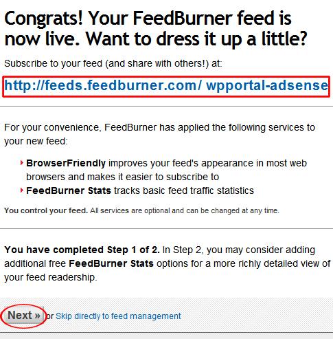 congratmessagefeedburnner - مجلة ووردبريس