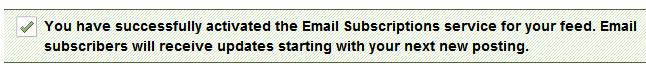 message feedburnner email active - مجلة ووردبريس