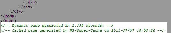 wp super cache check source page - مجلة ووردبريس