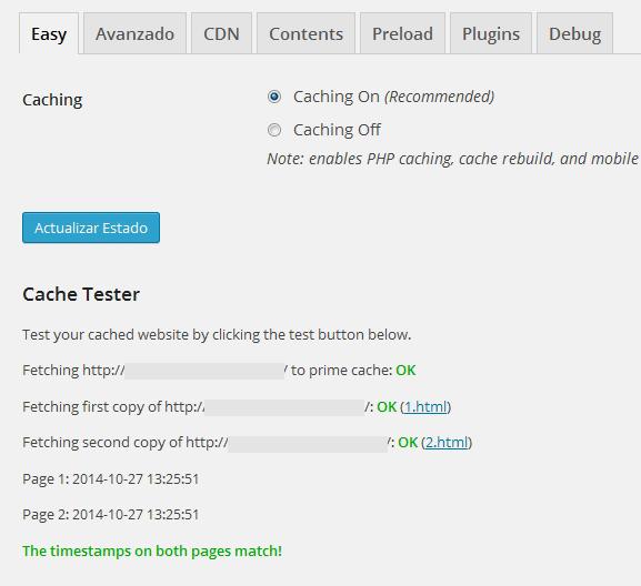wp super cache test - مجلة ووردبريس