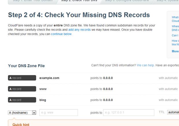 cloudflare chek missing dns records - مجلة ووردبريس
