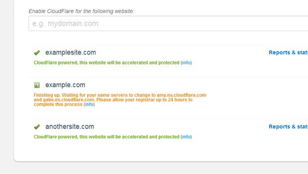 cloudflare domain statu - مجلة ووردبريس