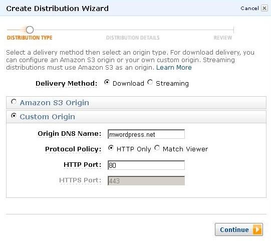 AWS Management Console Create Distribution Wizard e1314229313410 - مجلة ووردبريس