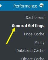 w3 total cache menu general  - مجلة ووردبريس