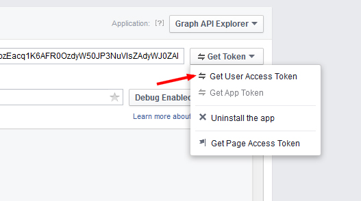 Graph API Explorer get access token - مجلة ووردبريس